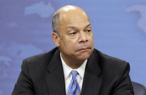 In this Nov. 30, 2010, file photo, Jeh Johnson speaks during a news conference at the Pentagon in Washington.