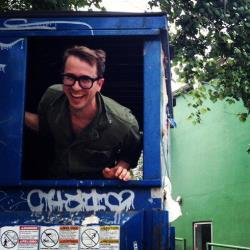 A professor plans to live inside a dumpster for a year, and live to tell about it.