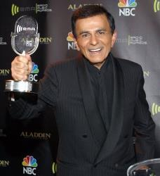In this Oct. 27, 2003 file photo, Casey Kasem poses for photographers after receiving the Radio Icon award during The 2003 Radio Music Awards at the Aladdin Resort and Casino in Las Vegas.