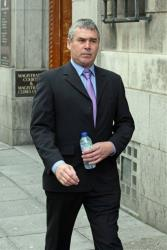 A file photo of Barry Rogerson arriving at Newcastle Magistrates' Court in northeast England.