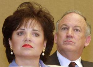 This May 24, 2000, file photo shows the late Patsy Ramsey and her husband, John, parents of JonBenet Ramsey.