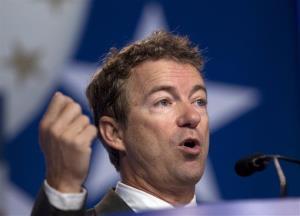 Sen. Rand Paul speaks during the Values Voter Summit on Oct. 11 in Washington.
