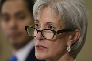 Health and Human Services Secretary Kathleen Sebelius takes part in a panel to answer questions about the Affordable Care Act enrollment, Friday, Oct. 25, 2013.