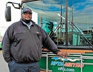 Bus driver Darnell Barton of Buffalo.