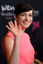 Anne Hathaway arrives at Elyse Walker's The Pink Party 2013 at Hangar 8 at the Santa Monica Airport on Saturday, Oct. 19, 2013 in Santa Monica, Calif. A source says she was a total diva while there.