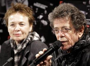 Lou Reed, right, and Laurie Anderson discuss their roles as co-curators of the annual Vivid Festival in Sydney Friday, May 28, 2010.