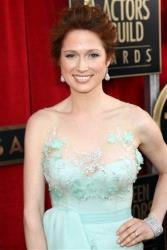 Actress Ellie Kemper arrives at the 19th Annual Screen Actors Guild Awards at the Shrine Auditorium in Los Angeles on Sunday, Jan. 27, 2013.