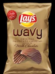 The chocolate-covered chips.