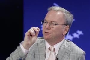 Eric Schmidt, Chairman of Google, participates in the panel discussion The Pulse of Today's Global Economy at the Clinton Global Initiative, Thursday, Sept. 26, 2013 in New York.