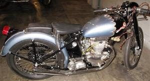 This undated photo provided by the U.S. Customs shows a recently recovered a 1953 Triumph motorcycle.