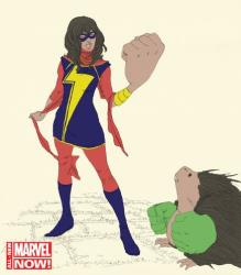 That's the new Ms. Marvel, a character named Kamala Khan.