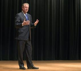 Al Gore speaks at McGill University Tuesday in Montreal.