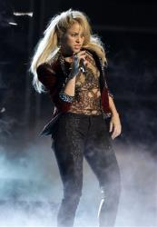Shakira performs at the 12th Annual Latin Grammy Awards on Thursday Nov. 10, 2011 in Las Vegas.