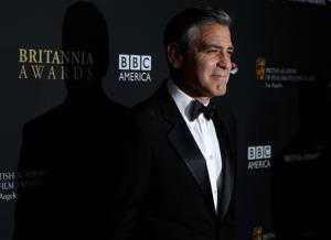 George Clooney arrives at the 2013 BAFTA Los Angeles Britannia Awards at the Beverly Hilton Hotel on Saturday, Nov. 9, 2013 in Beverly Hills, Calif.