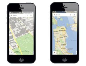The Google Maps iPhone app.