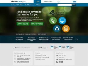 This screenshot made Monday, Oct. 28,  shows the US Department of Health and Human Services' main landing web page for HealthCare.gov.