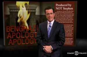 Colbert apologizes.