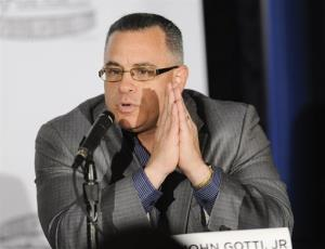 In this file photograph, John Gotti Jr. participates in a press conference for the film 'Gotti: Three Generations' at The Sheraton Hotel on Tuesday, April 12, 2011 in New York.