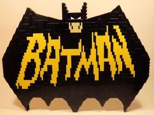 A vintage Batman logo.