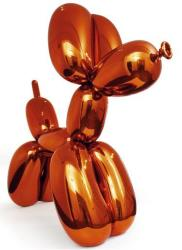Balloon Dog (Orange) by Jeff Koons sold for $58.4 million, a new record for a living artist.