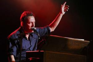 Musician Bruce Springsteen performs at the Stand Up for Heroes event at Madison Square Garden, Wednesday, Nov. 6, 2013, in New York.