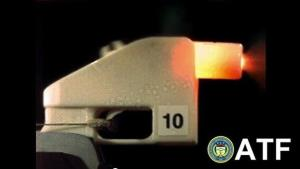 Screenshot from a test-firing of a plastic gun.