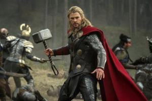 This publicity file photo released by Walt Disney Studios and Marvel shows Chris Hemsworth in a scene from Thor: The Dark World.