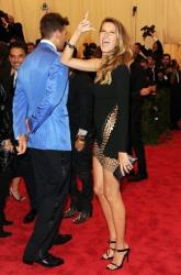 Tom Brady and Gisele Bundchen attend The Metropolitan Museum of Art's Costume Institute benefit celebrating PUNK: Chaos to Couture on Monday, May 6, 2013 in New York.
