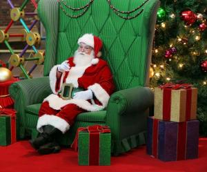 A stock photo of a jolly Santa that is not Herbert Jones.