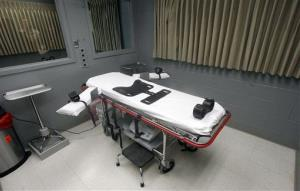 This Nov. 18, 2011 file photo shows the execution room at the Oregon State Penitentiary, in Salem, Ore.