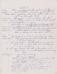 This image released by Sotheby's shows a page from a handwritten manuscript of Bruce Springsteen's 1975 hit Born to Run.