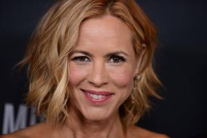 Actress Maria Bello arrives at Elyse Walker's The Pink Party 2013 at Hangar 8 at the Santa Monica Airport on Saturday, Oct. 19, 2013 in Santa Monica, Calif. .