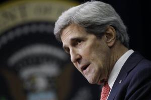 Secretary of State John Kerry speaks during a World AIDS Day event Dec. 2 in Washington.