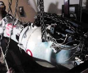 This image released by Mexico shows a piece of machinery that was part of the truck's stolen cargo.