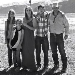 Dawna Johnson, 45, third left, and Dwayne Johnson, 46, right, with their children, from left, Kiowa-Rain Johnson, 18, Gracie Johnson, 13, and Dakota Johnson. Dwayne, Dawna, and Kiowa-Rain were killed.