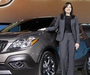 Mary Barra, General Motors Senior Vice President, Global Product Development, introduces the 2013 Buick Encore at the North American International Auto Show in Detroit, Jan. 10, 2012.