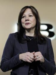 Mary Barra, then General Motors Senior Vice President, Global Product Development, speaks at the debut of the 2013 Buick Encore last year.