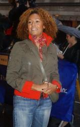 Melanie Brown, who was once known as Scary Spice of the Spice Girls, attends the opening night of a play Broadway on April 8, 2004, in New York.