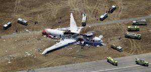 In this July 6 aerial file photo, the wreckage of the Asiana Flight 214 airplane is seen after it crashed at San Francisco International Airport.