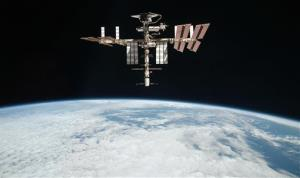 This 2011 file photo released by NASA shows the International Space Station about 220 miles above Earth.