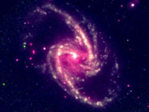 A supermassive black hole in the nearby spiral galaxy NGC 1365.