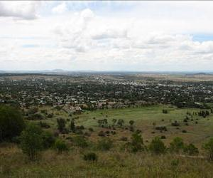 A town is seen in New South Wales, Australia, in this file photo. The exact town where the Colt family was found has not been made public.