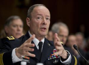 In this Dec. 11, 2013 file photo, National Security Agency (NSA) Director Gen. Keith Alexander testifies on Capitol Hill in Washington.