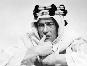 In this 1961 file photo, actor Peter O'Toole is shown in the title role in the film Lawrence of Arabia.""