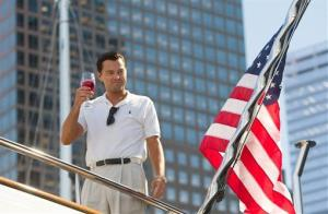 This film image released by Paramount Pictures shows Leonardo DiCaprio as Jordan Belfort in a scene from 'The Wolf of Wall Street.'