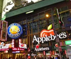 Times Square, with Applebee's.