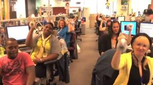 A screen shot from a YouTube look inside Zappos.