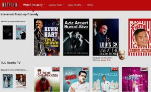 This screenshot shows some genre suggestions on Netflix.