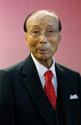 In this Tuesday, Sept, 28, 2010 photo, Hong Kong movie producer Run Run Shaw poses for a photograph during the Run Run Shaw prize presentation ceremony in Hong Kong.