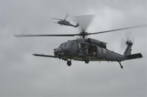Undated image made available by the US Air Force of Pave Hawk helicopter, the type that crashed.